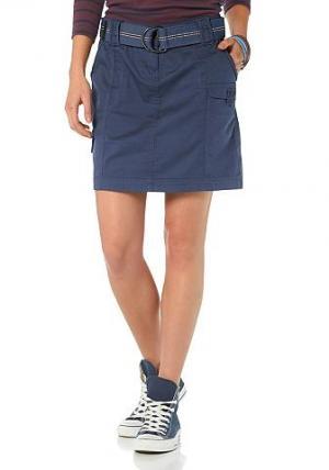 Flashlights, юбка карго (комплект), вместе с ремнём BOYSEN'S. Цвет: синий морской