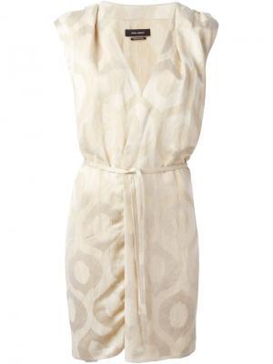 Жаккардовое платье Sudley Isabel Marant. Цвет: телесный