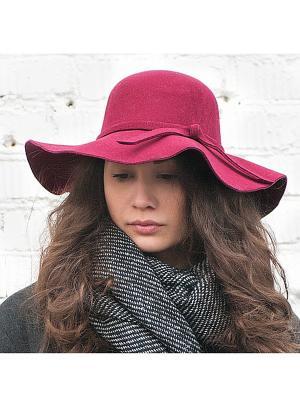 Шляпа с широкими полями (бордовая) Kawaii Factory. Цвет: бордовый