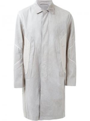 Пальто с панельным дизайном Wooyoungmi. Цвет: телесный