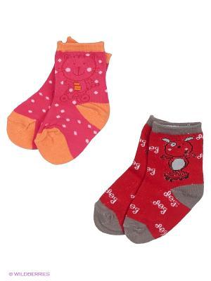 Носки DAG. Цвет: красный, розовый