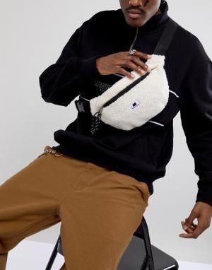 Sweet Sktbs Кремовая сумка из искусственного меха с ремешком через плечо SKT. Цвет: белый