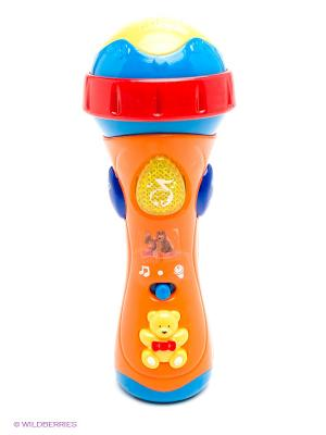 Микрофон Маша и медведь Играем вместе. Цвет: оранжевый, желтый, синий, красный