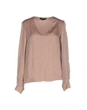 Блузка JO NO FUI. Цвет: телесный
