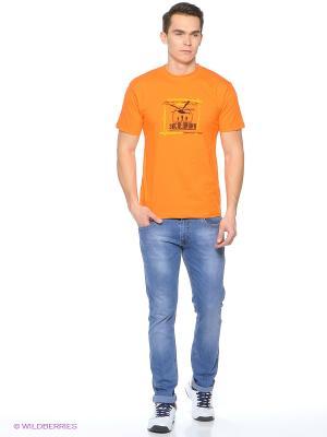 Футболка мужская Слово почти дает надежду оранжевая Экспедиция. Цвет: оранжевый