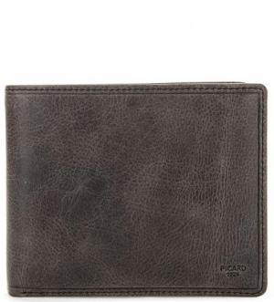 Кожаное портмоне серого цвета Picard. Цвет: серый
