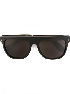 Солнцезащитные очки Flat Top Francis Black Silver Retrosuperfuture. Цвет: чёрный