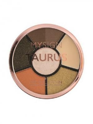 Палетка для макияжа глаз Complete Eye Base Taurus MakeUp Revolution. Цвет: светло-коричневый, оранжевый, персиковый