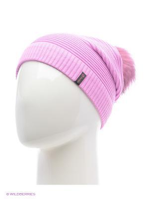 Жаклин Беркле шапка женская с помпоном Berkle. Цвет: розовый