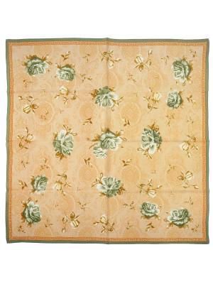 Платок Zalta. Цвет: бежевый, оливковый