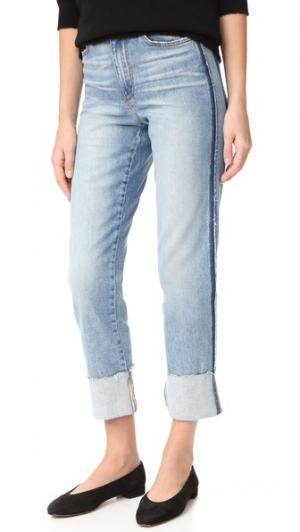 Прямые джинсы до щиколотки Debbie с высокой посадкой Joe's Jeans. Цвет: синий с эффектом поношенности