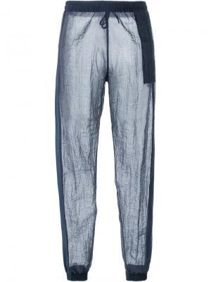 Прозрачные брюки Cottweiler. Цвет: синий