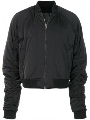 Куртка-бомбер с заплаткой на спине D.Gnak. Цвет: чёрный
