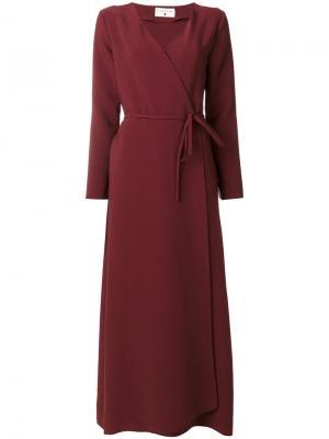 Платье с запахом Daniela Pancheri. Цвет: красный