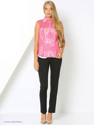 Блузка Valeria Lux 72150. Цвет: розовый, белый
