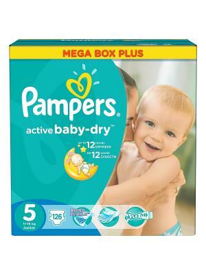Подгузники Active Baby-Dry 11-18 кг, 5 размер, 126 шт. Pampers. Цвет: зеленый