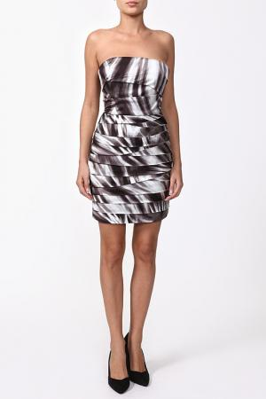 Открытое коктейльное платье Bebe. Цвет: серый