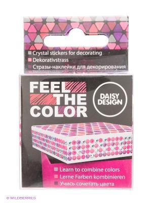 Наклейки для декорирования Pretty Pink of FEEL THE COLOR Daisy Design. Цвет: малиновый