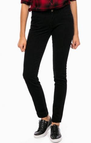 Черные вельветовые брюки Wrangler. Цвет: черный