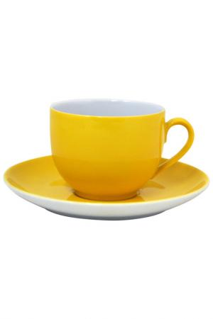Чашка с блюдцем KAHLA. Цвет: желтый