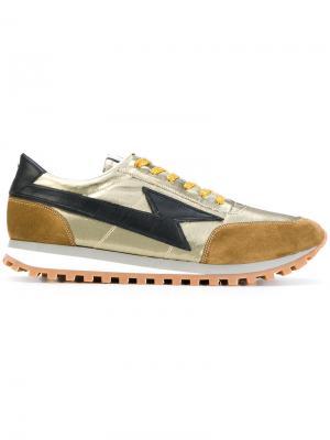Кроссовки с заплатками в виде вспышки молнии Marc Jacobs. Цвет: металлический