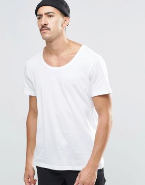 Weekday Белая футболка Daniel. Цвет: белый