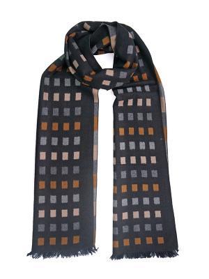 Мужской шарф LANYINGDI ША-28 30*180 100% шелк. Цвет: черный, рыжий, серый
