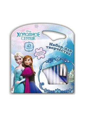 Подарочный набор для творчества 42 предмета Disney Frozen. Цвет: светло-голубой