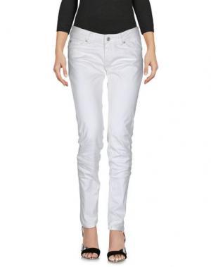Джинсовые брюки PF PAOLA FRANI. Цвет: белый