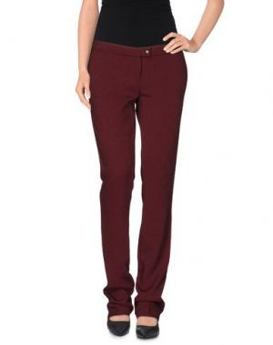 Повседневные брюки LIST. Цвет: красно-коричневый