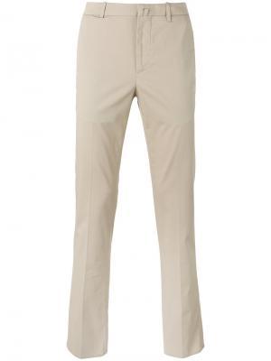 Слегка расклешенные брюки-чинос Corneliani. Цвет: телесный