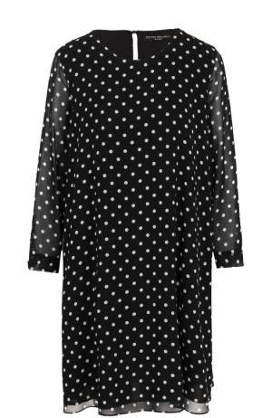 Мини-платье свободного кроя с горох Pietro Brunelli. Цвет: черно-белый