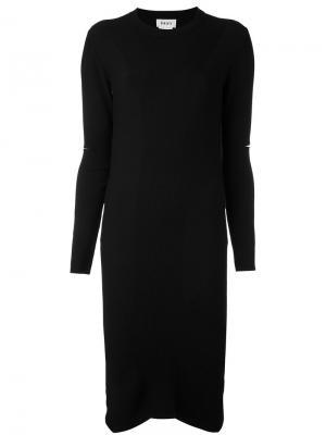 Платье с прорезями на рукавах Donna Karan. Цвет: чёрный