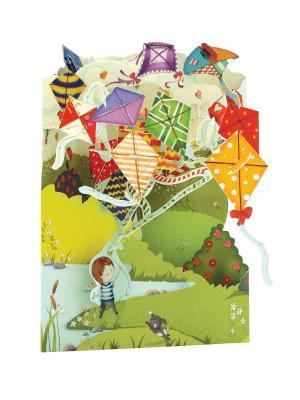 Объемная открытка  Воздушные змеи Даринчи. Цвет: красный