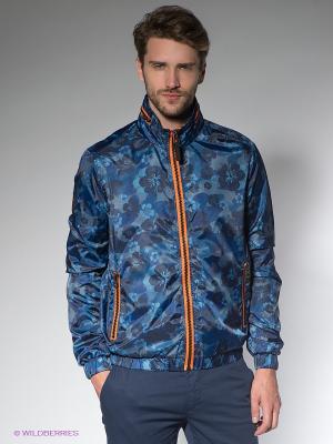 Куртка Fred Mello. Цвет: синий, рыжий