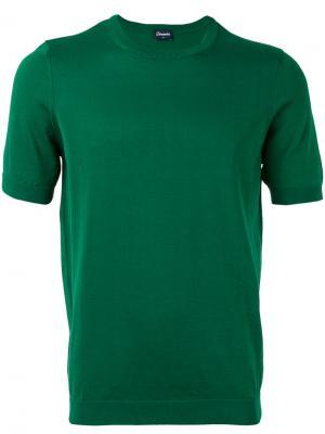 Джемпер с короткими рукавами Drumohr. Цвет: зелёный