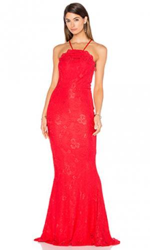Вечернее платье lori Elle Zeitoune. Цвет: красный