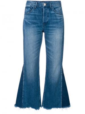 Укороченные джинсы клеш W4 Higher Ground 3X1. Цвет: синий