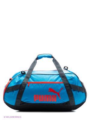 Сумка Active TR Duffle Bag M Puma. Цвет: голубой, черный