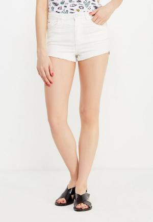 Шорты джинсовые Jennyfer. Цвет: белый