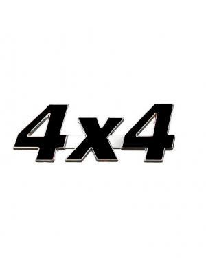 Наклейка 3D 4х4 Racing WIIIX. Цвет: черный