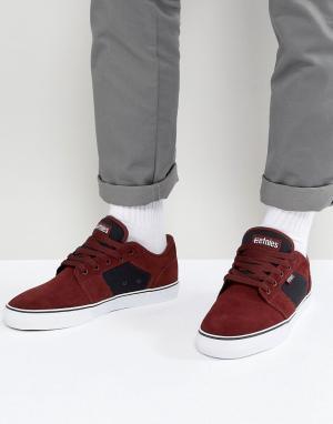 Etnies Бордовые кроссовки Barge LS. Цвет: красный