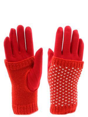 Перчатки HOBBY LINE. Цвет: белый, красный