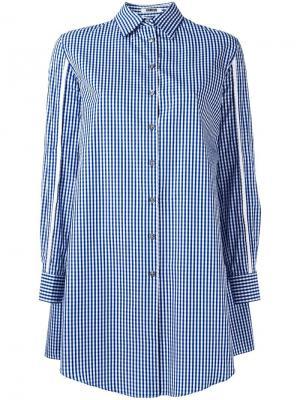 Рубашка с вырезами на рукавах Jourden. Цвет: синий