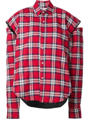 Plaid cutout oversized shirt Vetements. Цвет: красный
