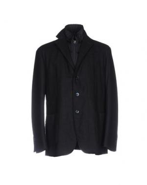 Куртка LUIGI BIANCHI Mantova. Цвет: темно-синий