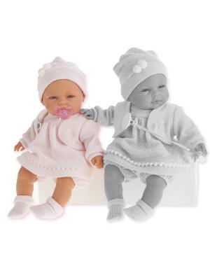 Кукла Соня, плачущая, 37 см. Antonio Juan. Цвет: бледно-розовый