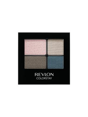 Тени для век четырехцветные Colorstay Eye16 Hour Eye Shadow Quad, Romantic 526 Revlon. Цвет: бежевый