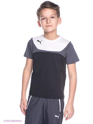 Футболка Puma. Цвет: черный, серый, белый