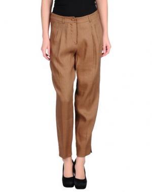 Повседневные брюки FISICO-CRISTINA FERRARI. Цвет: коричневый